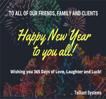 HAPPY NEW YEAR FROM TELLIANT SYSTEMS